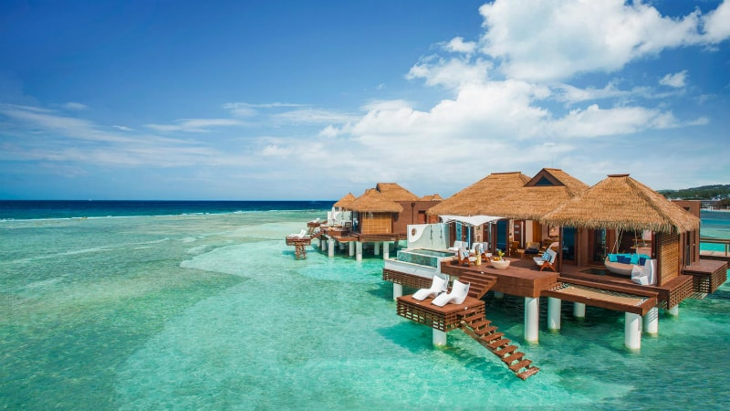 Over The Water Bungalows at Sandals Royal Caribbean