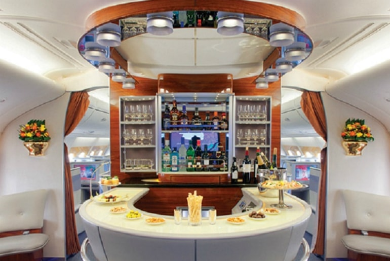 Emirates A380 Business Class Onboard Bar