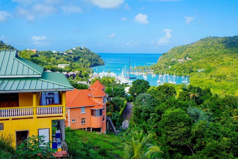 St Lucia View Of Bay