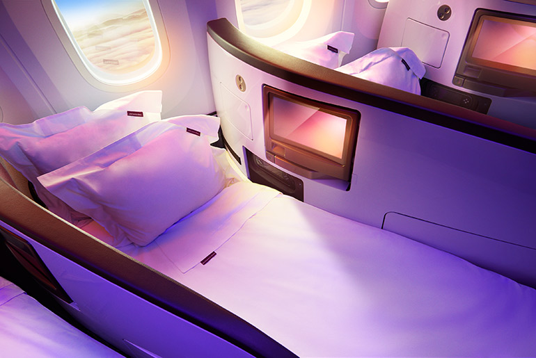 Virgin Upper Class Flatbed - Best Business Class Airline | Just Fly Business