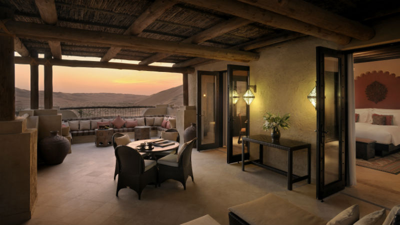 Deluxe Terrace Room - Anantara, Qasr Al Sarab | Just Fly Business