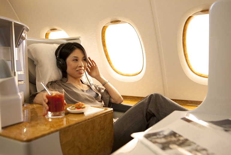 Emirates Lie Flat Bed - Fly Business Class For Meetings | Just Fly Business