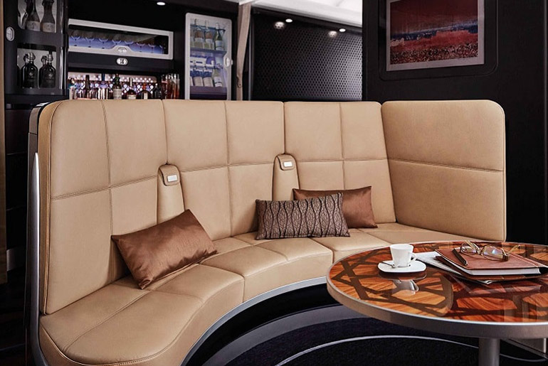 Etihad Onboard Lounge - Fly Business Class For Meetings | Just Fly Business