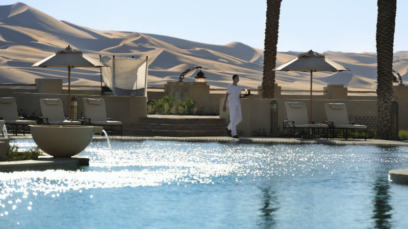 View over swiming pool - Anantara, Qasr Al Sarab | Just Fly Business