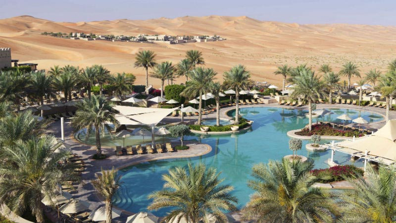 Main Pool View - Anantara, Qasr Al Sarab | Just Fly Business