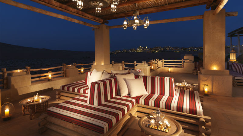 Nighttime View - Anantara, Qasr Al Sarab | Just Fly Business