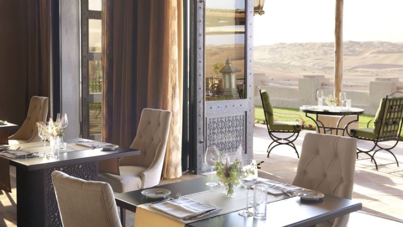 Restaurant Dining Room- Anantara, Qasr Al Sarab | Just Fly Business