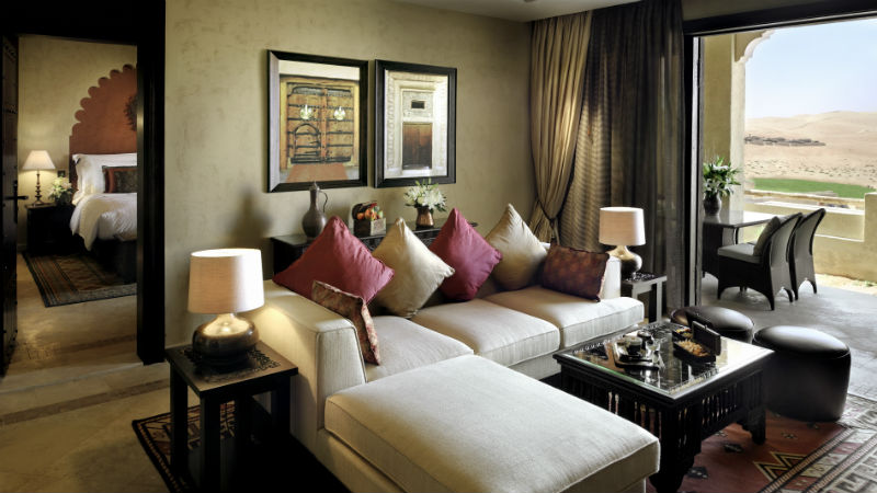 Suite living room - Anantara, Qasr Al Sarab | Just Fly Business