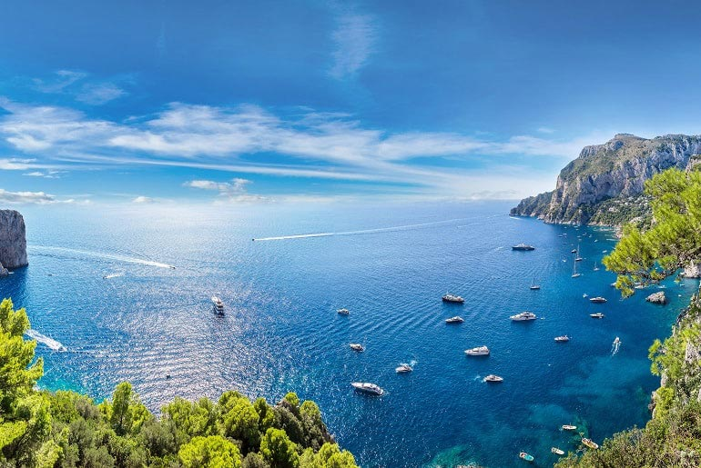 View of Capri Island near Naples, Italy | Just Fly Business