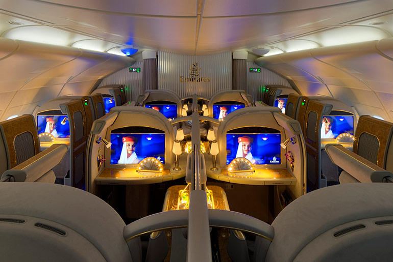Emirates First Class Cabin - Amazing Features in Business & First Class | Just Fly Business