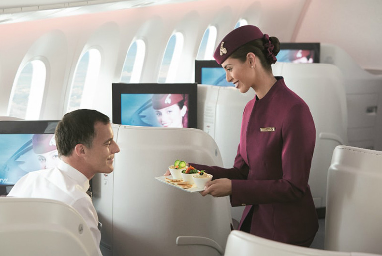Qatar Airways Onboard Service - Best Airlines Revealed | Just Fly Business