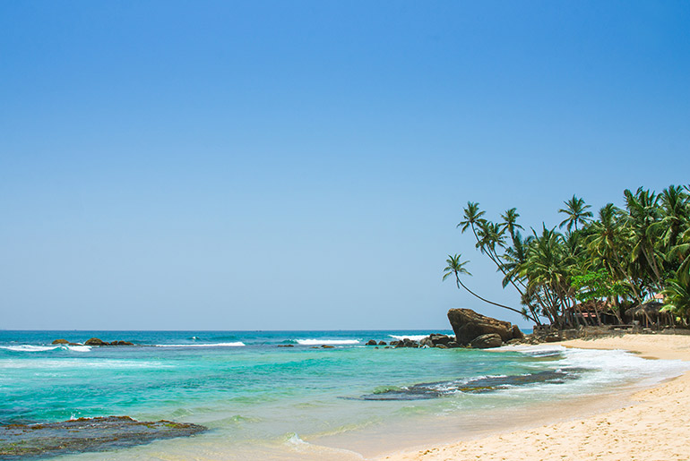 Beautiful tropical beach with turquoise water, Sri Lanka