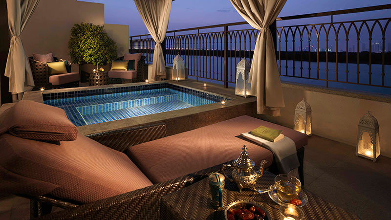 Luxury Anantara Mangroves Pool Suite at the Eastern Manroves Resort, with personal Plunge pool