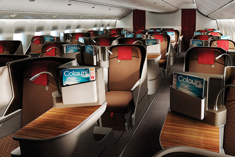 B777 Business Class Cabin - Garuda Indonesia Business Class | Just Fly Business