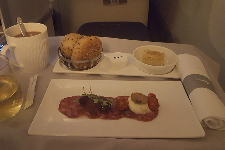 Entree - BA Business Class Review | Just Fly Buisness