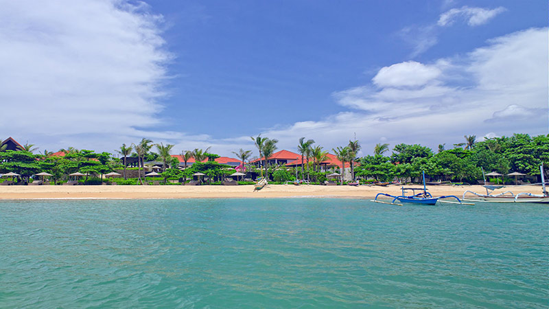 View of the Fairmont Sanur Beach Hotel