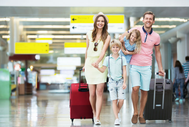 Family at Airport | Just Fly Business Blog