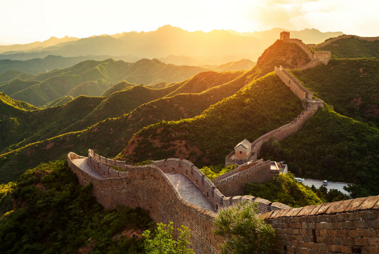 Great wall under sunshine during sunset | Just Fly Business Blog
