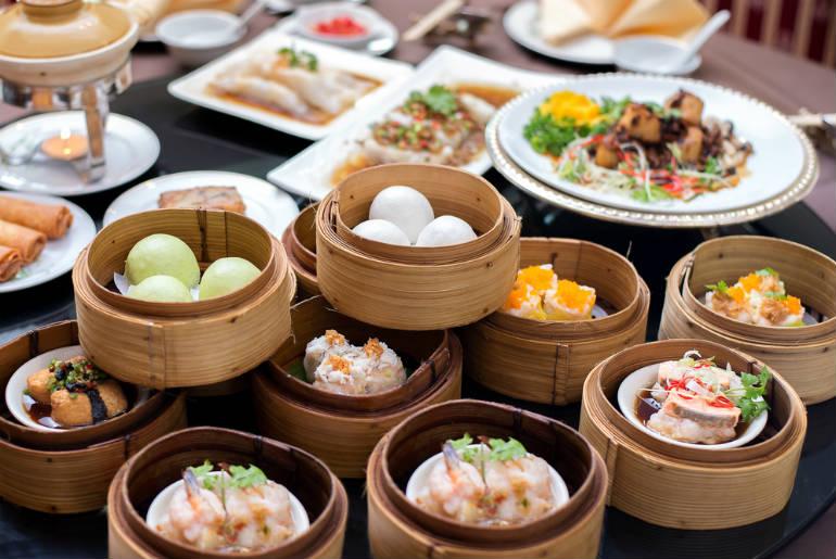 View of food in a street in Hong Kong