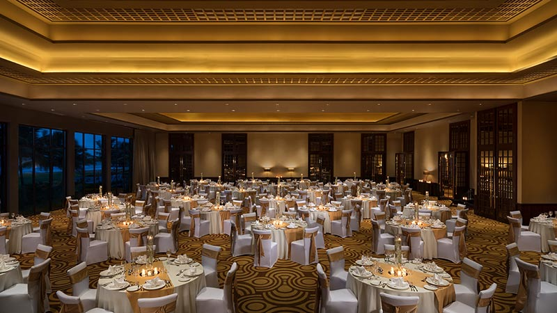 The hotel ballroom at Avani Kalutara Resort, Sri Lanka