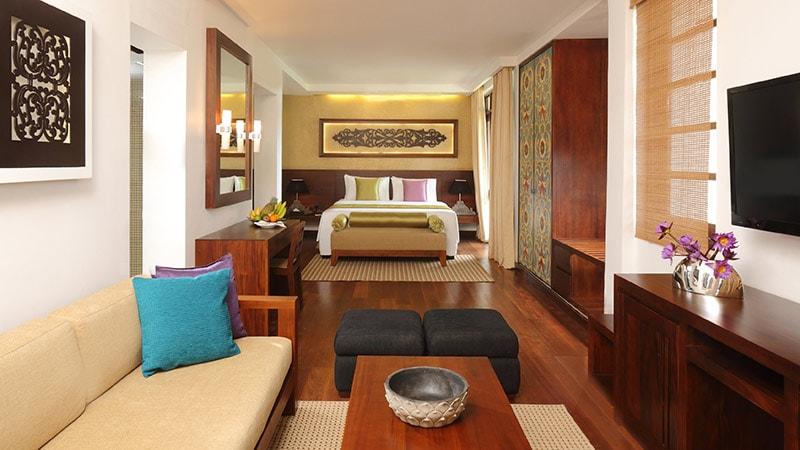Long shot of the Junior Suite at Avani Kalutara Resort, Sri Lanka