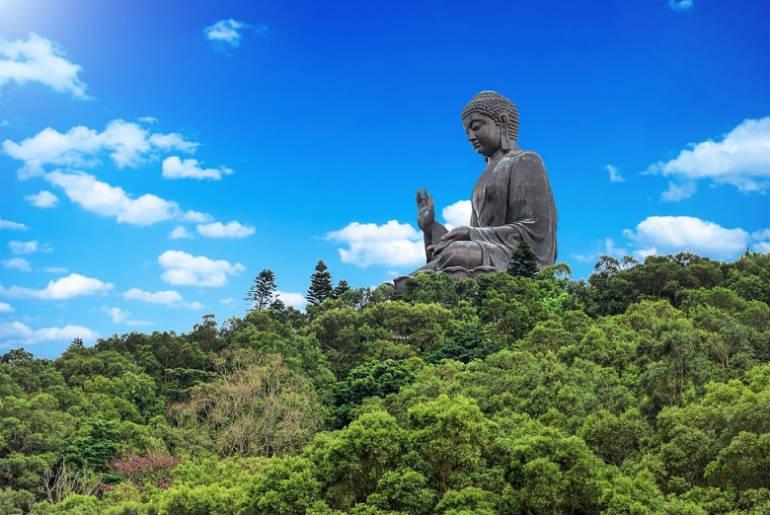 View of Buddha at Lantau Island, Hong Kong