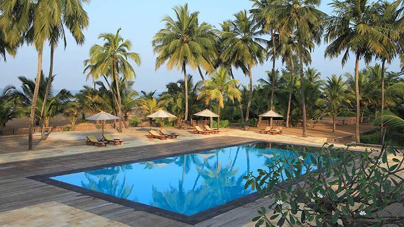Swimming pool view at Avani Kalutara Resort, Sri Lanka
