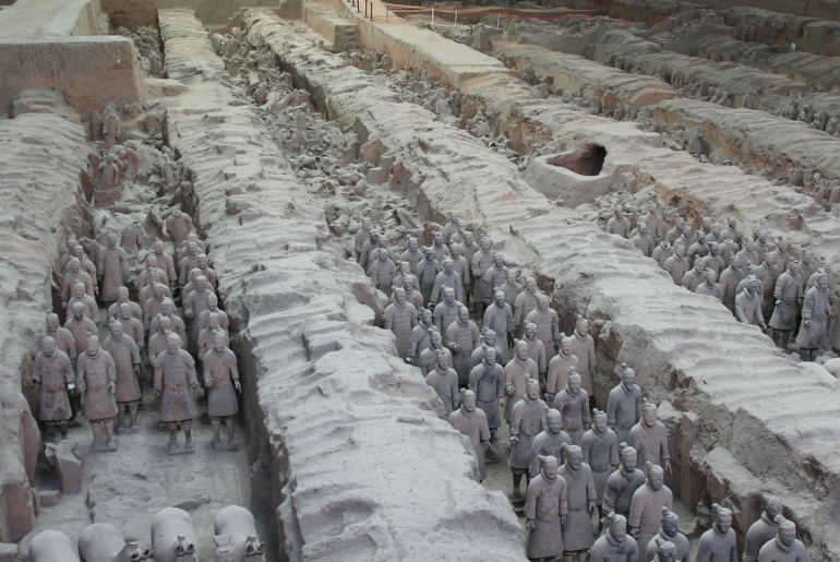 Terracotta Warriors located at Xian