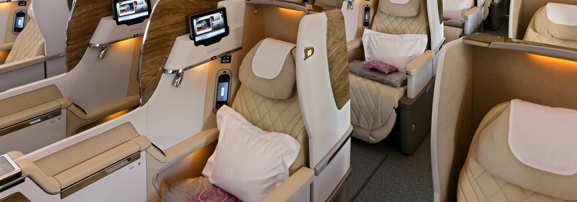 Business calss seats in Emirates 777-300ER