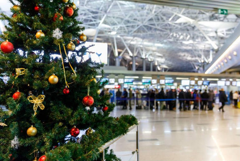 Christmas time at the airport