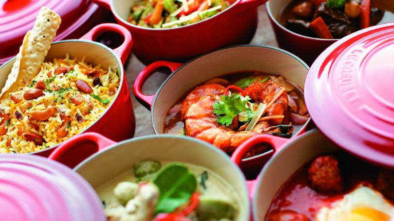 Mixture of different Cuisines at Shangri La Rasa Sentosa Resort & Spa, Singapore