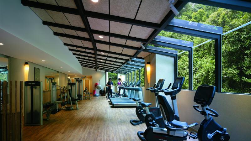 Gym facilities at Shangri La Rasa Sentosa Resort & Spa, Singapore