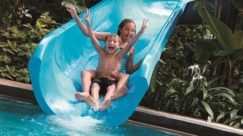 Kids water slide at Shangri La Rasa Sentosa Resort & Spa, Singapore