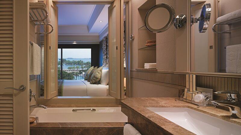 The panoramic sea view room at Shangri La Rasa Sentosa Resort Resort & Spa, Singapore