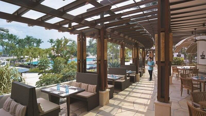 Outdoor restaurant at Shangri La Rasa Sentosa Resort & Spa, Singapore