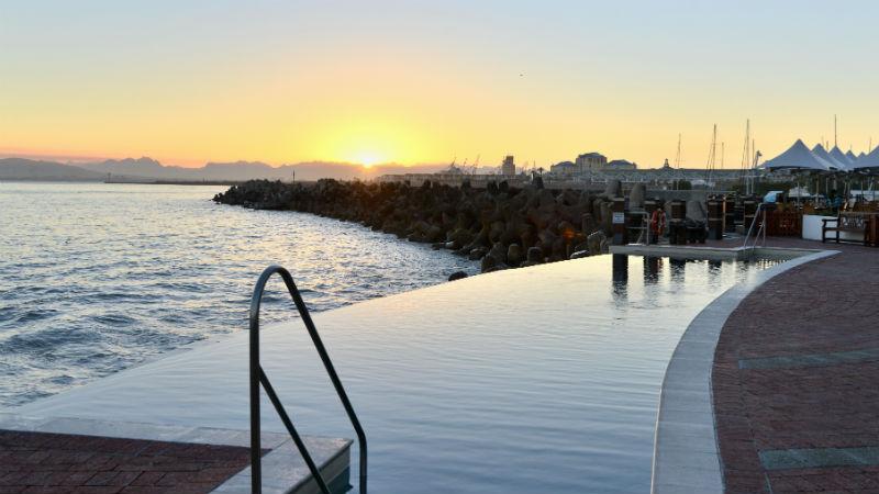 Sunrise From Pool in Radisson Blu Hotel Waterfront