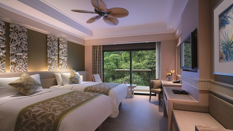 The superior hill view room at Shangri La Rasa Sentosa Resort & Spa, Singapore
