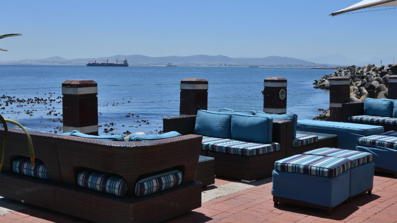 Terrace couches at the Radisson Blu Hotel Waterfront