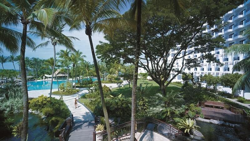 View of garden at Shangri La Rasa Sentosa Resort & Spa, Singapore