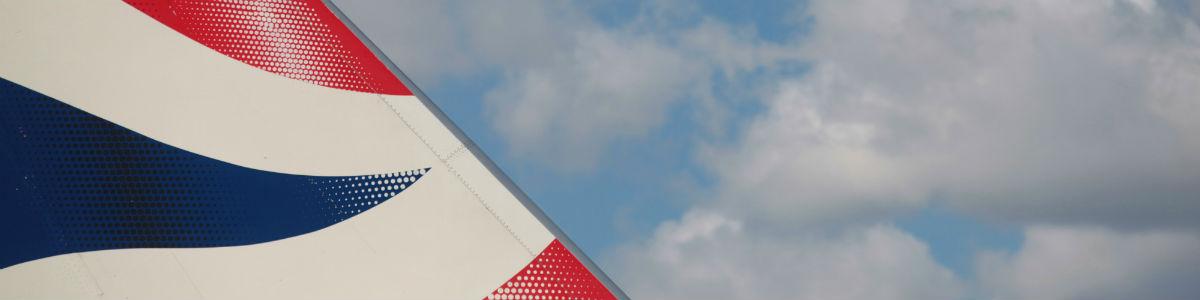 Tail of a British Airways plane