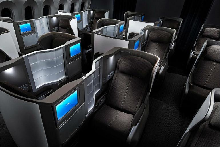 BA787 Club World business cabin seat