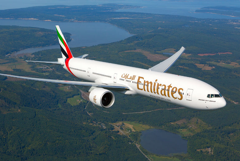 Emirates Boeing 777 aircraft