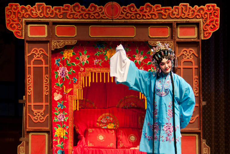 Lady dressed in authentic clothes for the Chinese Opera