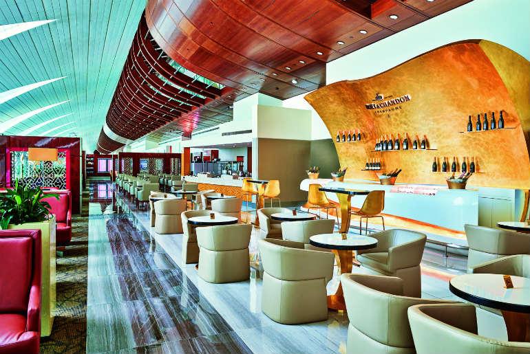 Moët & Chandon champagne lounge in Dubai