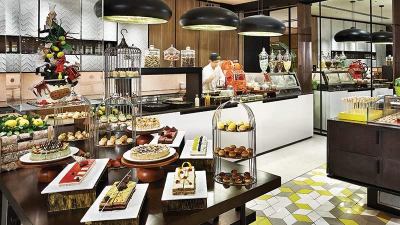 Lemon garden desert tray at the Shangri-La-Hotel in Kuala Lumpur