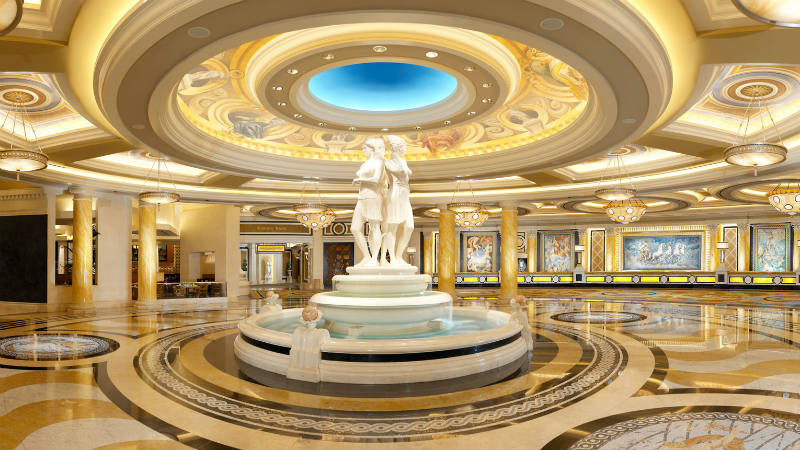 Marble statues in the lobby of Caesars Palace Las Vegas