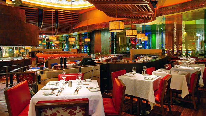 Dining tables at Mesa Restaurant at Caesars Palace Las Vegas