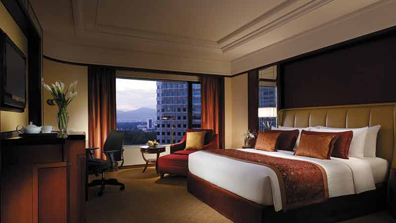 Premier Room at the Shangri-La Hotel with views of Kuala Lumpur