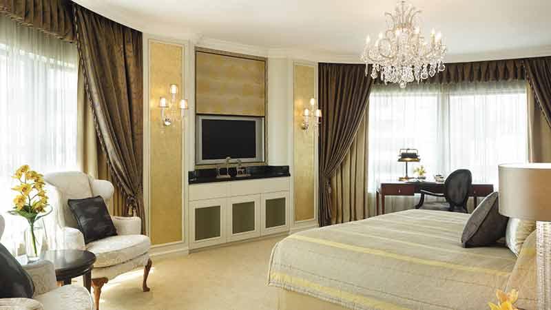 Bright white Royal Suite at the Shangri-La Hotel, Kuala Lumpur