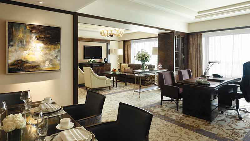 Overview of the Speciality Suite at Shangri-La Hotel, Kuala Lumpur